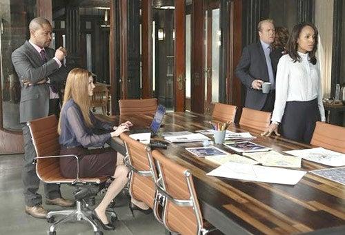 "Scandal - Season 2 - ""Snake in The Garden"" - Columbus Short, Darby Stanchfield, Gregg Henry, Kerry Washington"