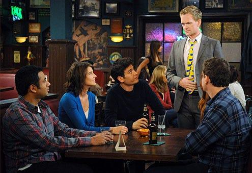 "How I Met Your Mother - Season 7 - ""Noretta"" - Kal Penn, Cobie Smulders, Josh Radnor, Neil Patrick Harris, Jason Segel"