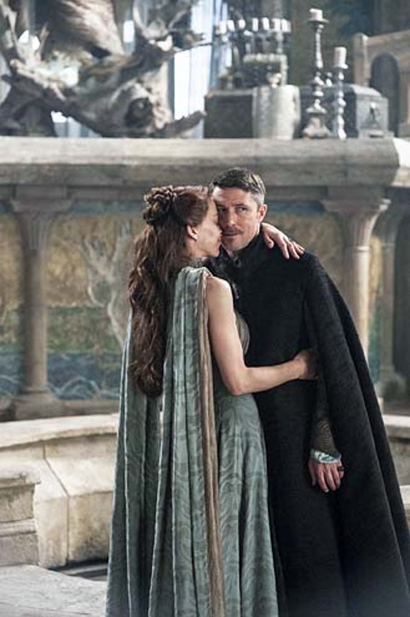 """Game of Thrones - Season 4 - """"First of His Name"""" - Kate Dickie and Aidan Gillen"""