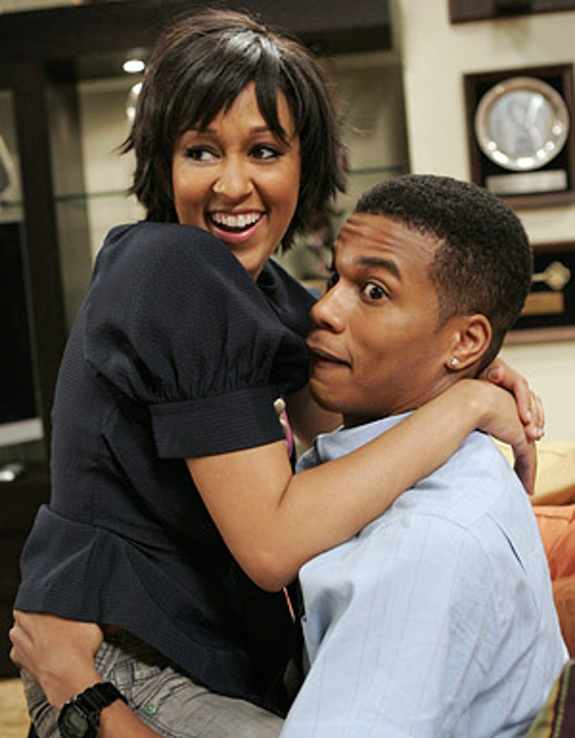 """The Game - Season 3 - """"Hill Street Blues"""" - Tia Mowry as Melanie with Cory Hardrict as the Cable Guy"""