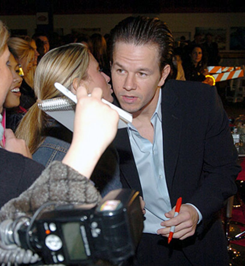 Mark Wahlberg and fans - The 14th Annual Gotham Awards - 2004