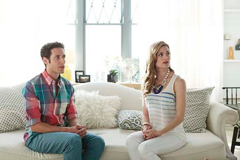 """Royal Pains - Season 6 - """"Steaks on a Plane"""" - Paulo Costanzo and Brooke D'Orsay"""