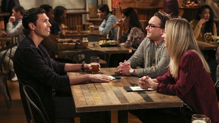 Brian Thomas Smith, Johnny Galecki and Kaley Cuoco, The Big Bang Theory