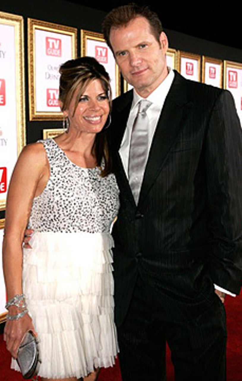 Jack Coleman and wife Beth Toussaint - TV Guide post-Emmy Awards party, Sept. 16, 2007