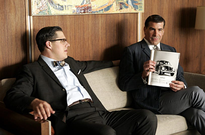 """Mad Men - """"Marriage of Figaro"""" - Rich Sommer as Harry, Bryan Batt as Salvatore"""