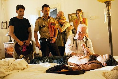 "Walking Dead - Season 2 - ""Bloodletting"" - Jon Bernthal, Andrew Lincoln, Pruitt Taylor Vince, Jane McNeill, Lauren Cohan, Scott Wilson and Chandler Riggs"