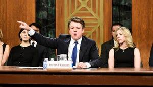 Matt Damon Plays a Shouty, Sniffly Brett Kavanaugh in Saturday Night Live Cold Open
