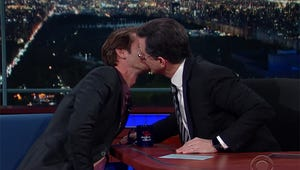 Late Night's Hot New Trend Is Hosts Kissing Men