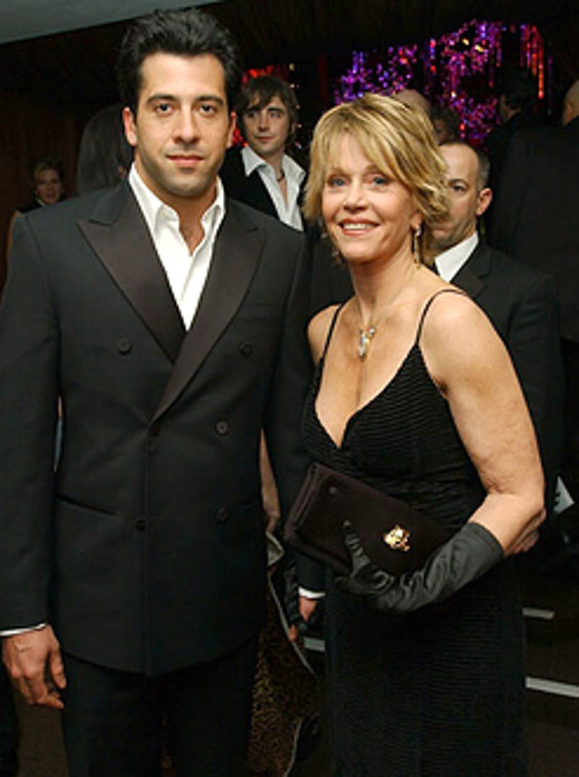 Jane Fonda and son Troy Garity -  InStyle/ Warner Bros Golden Globe After Party - 2004