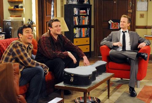 "How I Met Your Mother - Season 7 - ""Trilogy Time"" - Josh Radnor, Jason Segel, Neil Patrick Harris"