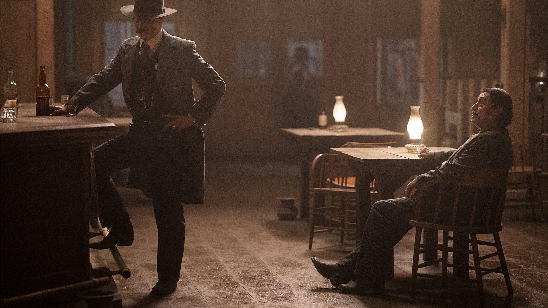 Timothy Olyphant and Ian McShane, Deadwood: The Movie