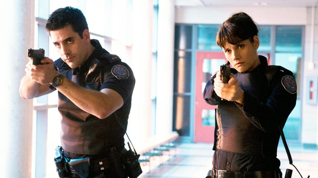 Ben Bass and Missy Peregrym, Rookie Blue