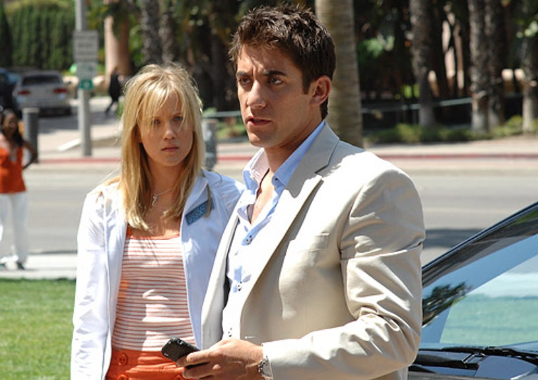 "CSI: Miami - Season 6 - ""Cyber-lebrity"" - Jessy Schram as Candace Walker and Jonathan Togo as Ryan"
