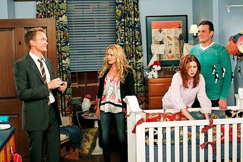 "How I Met Your Mother - Season 8 - ""FarHampton"" - Neil Patrick Harris, Becky Newton, Alyson Hanigan and Jason Segel"