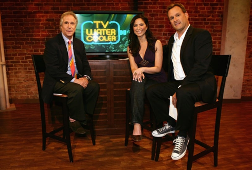 TV Watercooler - Henry Winkler, show host Teresa Strasser and guest host, Dave Coulier on the set at the TV Guide Channel Studios,  May 2007