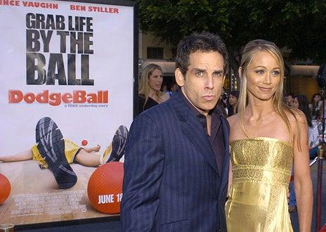 "Ben Stiller and wife Christine Taylor - ""Dodgeball: A True Underdog Story"" world premiere, June 14, 2004"
