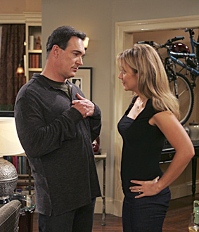 """Rules of Engagement - """"The Young and the Restless"""" - Patrick Warburton as Jeff, Megyn Price as Audrey"""