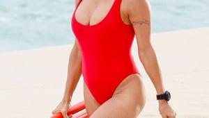 Pamela Anderson Rocks Iconic Baywatch Swimsuit Again