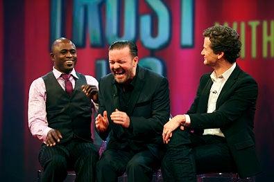 "Trust Us With Your Life - Season 1 - ""Ricky Gervais"" - Wayne Brady, Ricky Gervais and Jonathan Mangum"