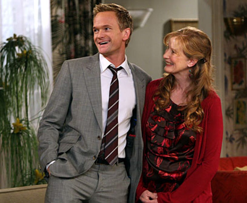 """How I Met Your Mother - Season 4, """"The Stinsons"""" - Neil Patrick Harris as Barney, Frances Conroy as Barney's mom"""