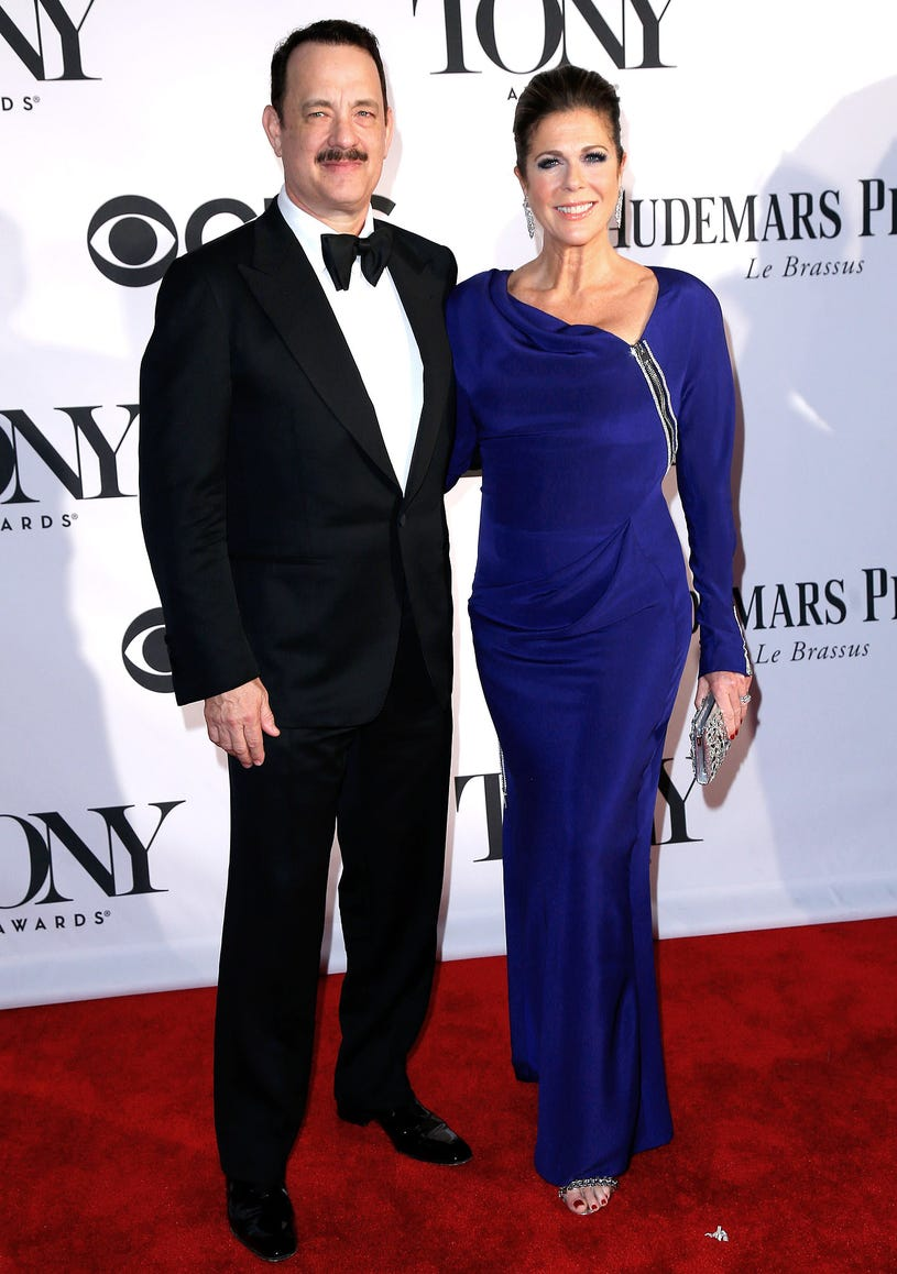 Tom Hanks and Rita Wilson - 67th Annual Tony Awards in New York City, June 9, 2013