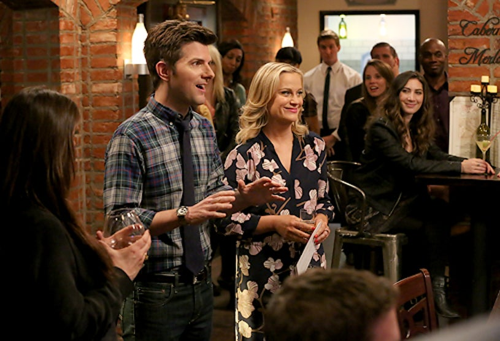 "Parks and Recreation - Season 6 - ""Moving Up"" - Adam Scott, Amy Poehler"