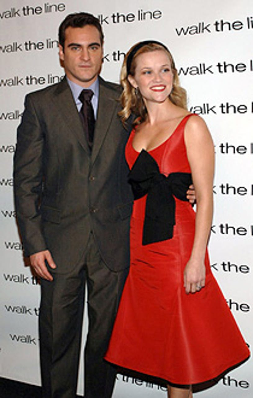 """Joaquin Phoenix and Reese Witherspoon - 20th Century Fox's """"Walk The Line"""" New York City premiere, November 13, 2005"""
