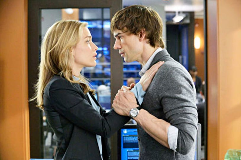 """Covert Affairs - Season 4 - """"Space (I Believe In)"""" - Piper Perabo and Christopher Gorham"""