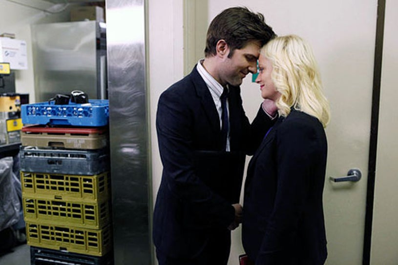 """Parks and Recreation - Season 4 - """"Win, Lose, or Draw"""" - Adam Scott and Amy Poehler"""