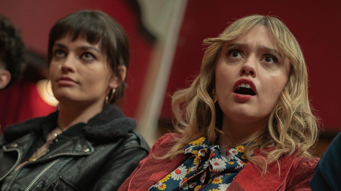 Aimee Lou Wood and Emma Mackey, Sex Education