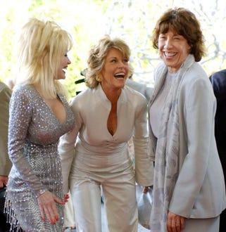 "Dolly Parton, Jane Fonda and Lily Tomlin -  ""The Retro Premier"" live auction, June 2003"