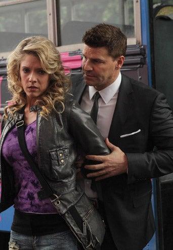 """Bones - Season 8 - """"The Doll in the Derby"""" - Suzanne Quast, David Boreanaz"""