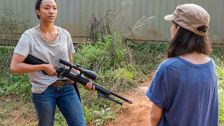 Sonequa Martin-Green and Christian Serratos, The Walking Dead