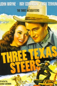 Three Texas Steers as Sheriff Brown