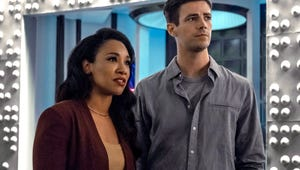 Barry and Iris Grieve for Nora in the First The Flash Season 6 Photos