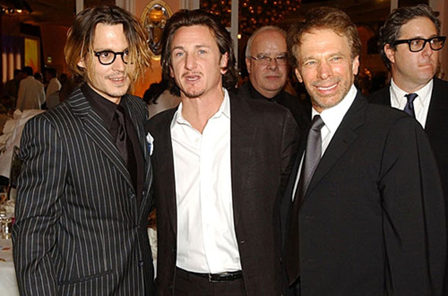 Johnny Depp, Sean Penn and Jerry Bruckheimer - 9th Annual Critics Choice Awards - Jan. 2004