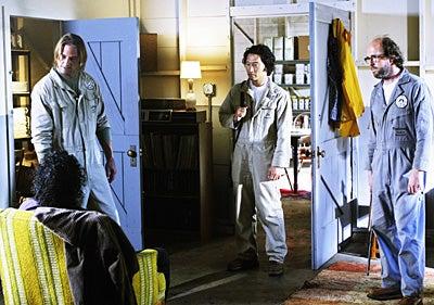 "Lost - Season 5 - ""Namaste"" - Naveen Andrews, Josh Holloway, Daniel Dae Kim, Eric Lange"