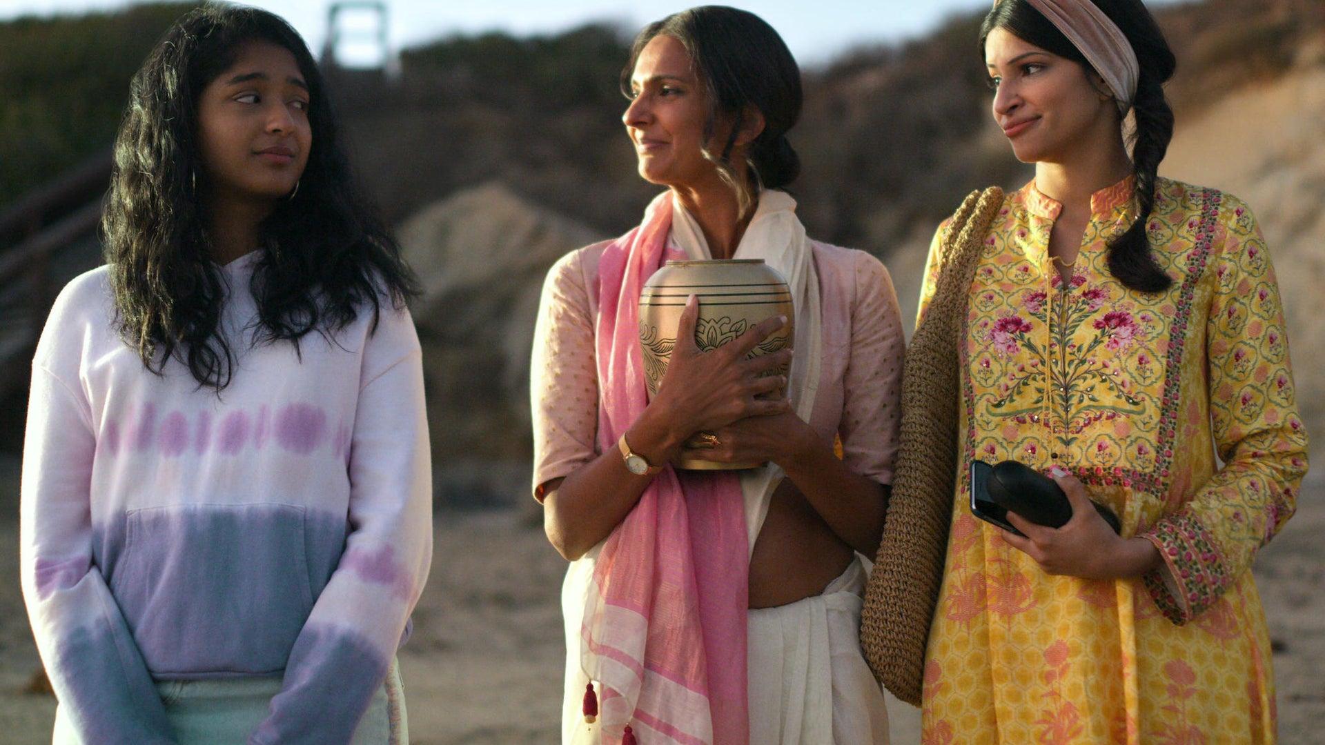 Maitreyi Ramakrishnan, Poorna Jagannathan, and Richa Moorjani, Never Have I Ever