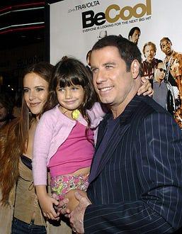 "Kelly Preston, Ella Bleu Travolta and John Travolta - The ""Be Cool"" Los Angeles premiere, February 14, 2005"