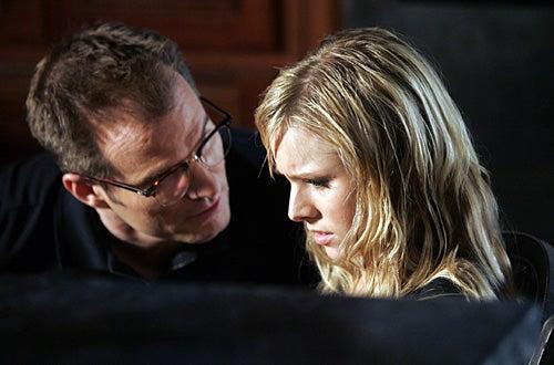 """Heroes - Season 2 - """"Cautionary Tales"""" -  Jack Coleman as """"H.R.G."""", Kristen Bell as """"Elle"""""""
