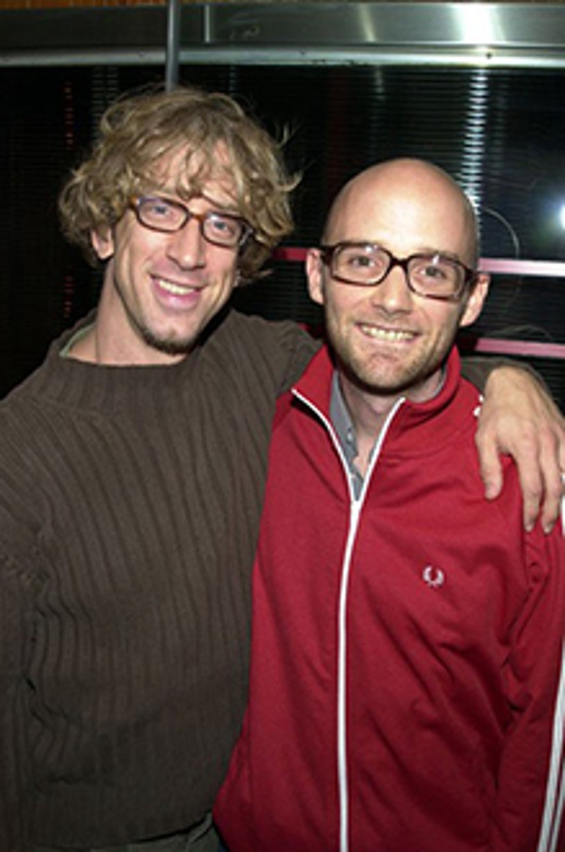 Andy Dick and Moby - Def Jam Party, Sept. 2001