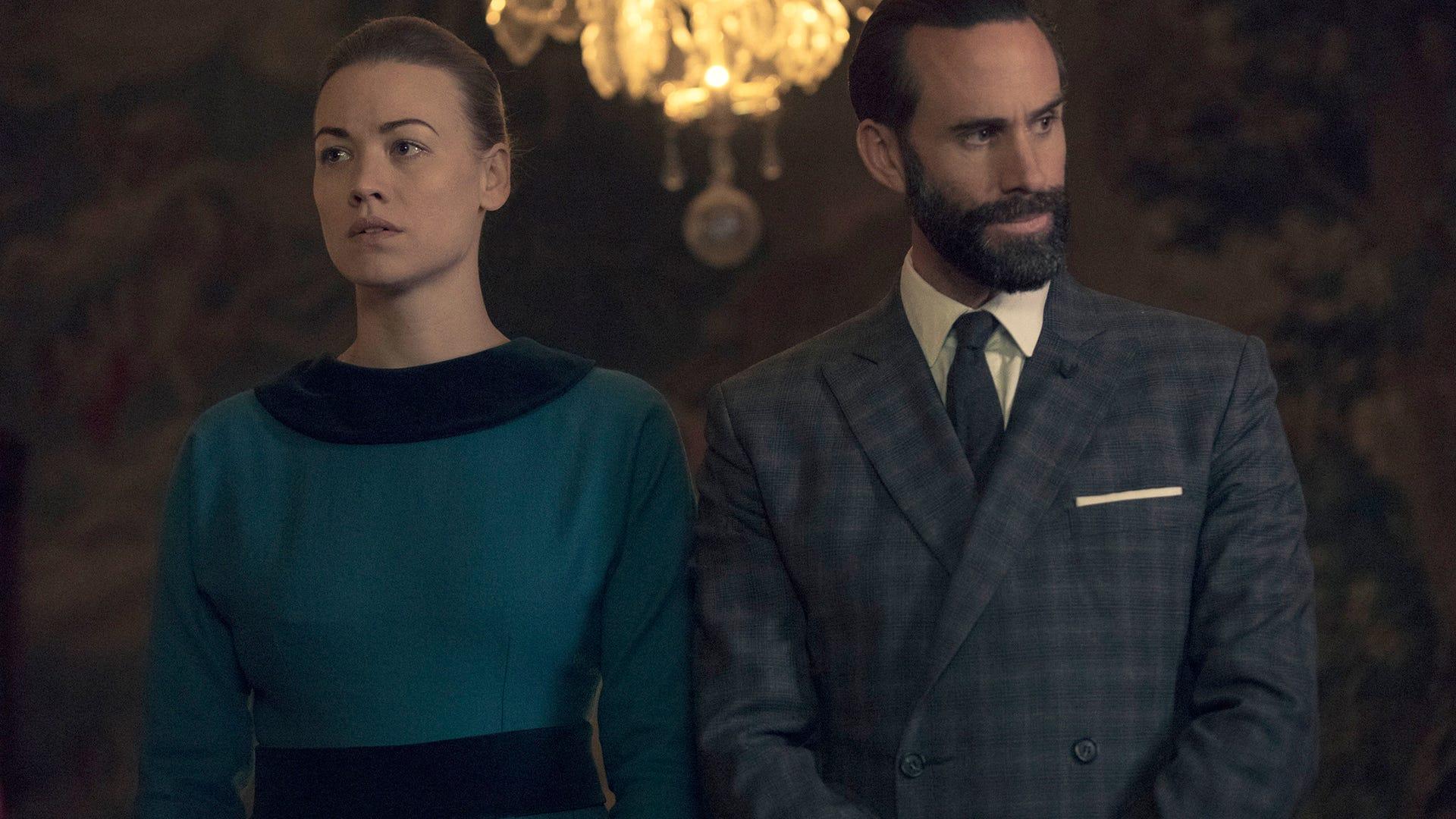 Yvonne Strahovski and Joseph Fiennes, The Handmaid's Tale
