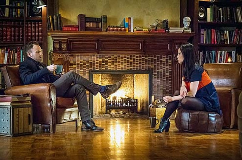 """Elementary - Season 2 - :The Many Mouths of Aaron Coleville"""" - Jonny Lee Miller and Lucy Liu"""