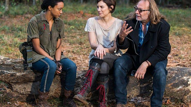 Sonequa Martin-Green, Lauren Cohan and Greg Nicotero, The Walking Dead