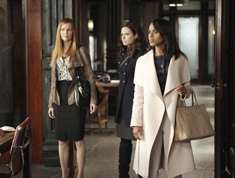 """Scandal - Season 2 - """"Any Questions?"""" - Darby Stanchfield, Katie Lowes, Kerry Washington"""
