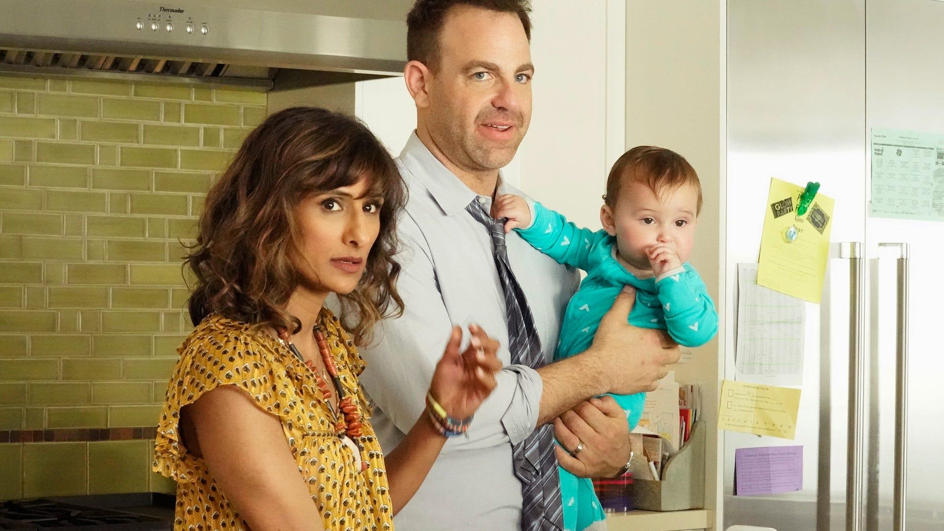 Sarayu Blue, Paul Adelstein, a baby; I Feel Bad