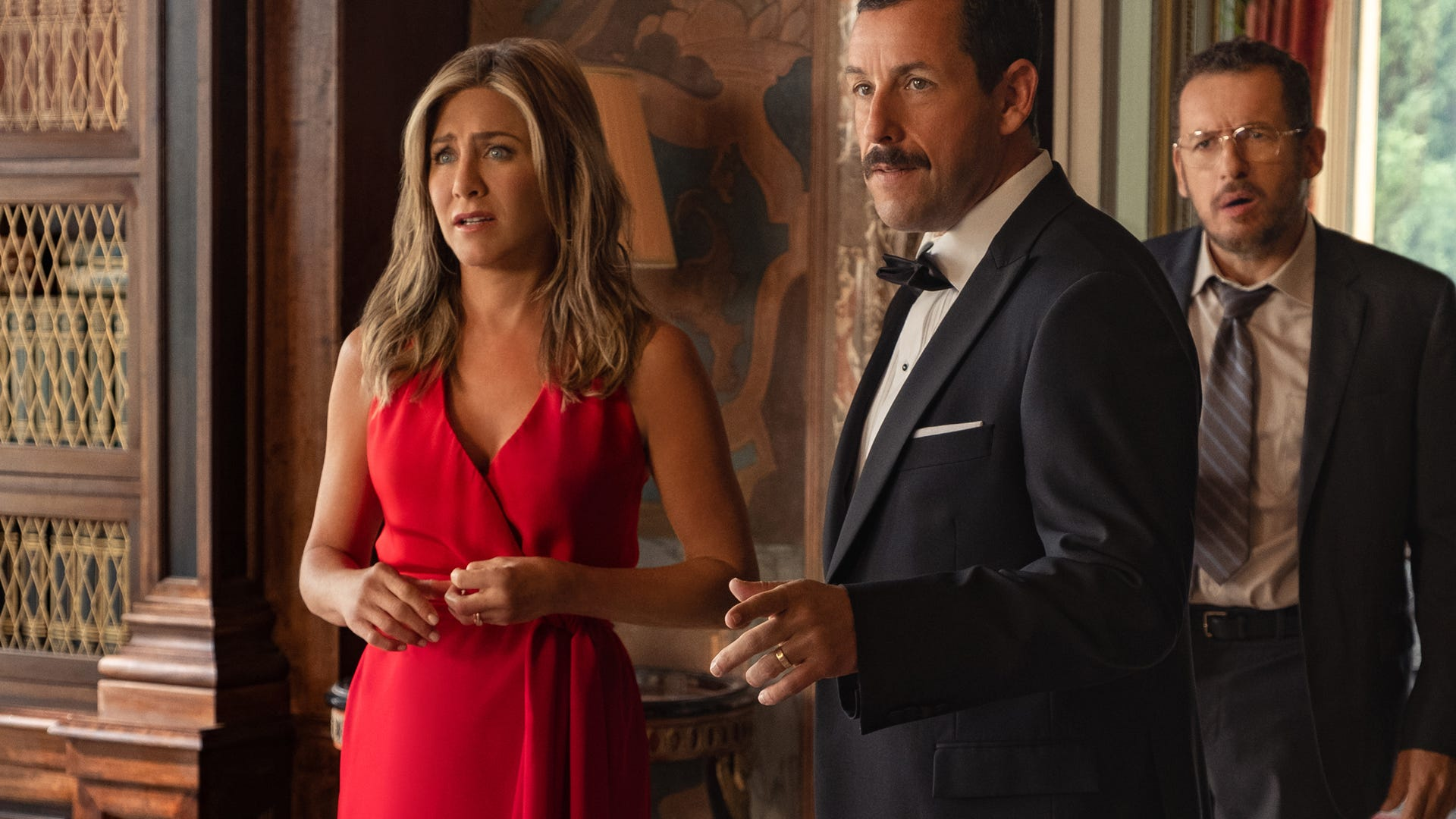 Jennifer Aniston, Adam Sandler; Murder Mystery