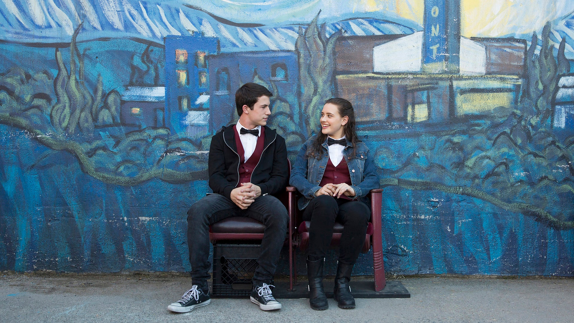Dylan Minnette and Katherine Langford, 13 Reasons Why