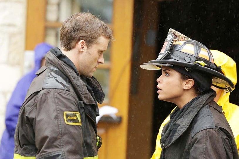 "Chicago Fire - Season 3 - ""Chopper"" - Jesse Spencer and Monica Raymund"
