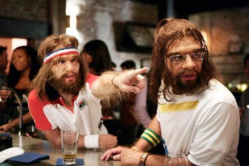 "Cavemen - Premiere, ""Her Embarrassed of Caveman"" - Sam Huntington, Nick Kroll"